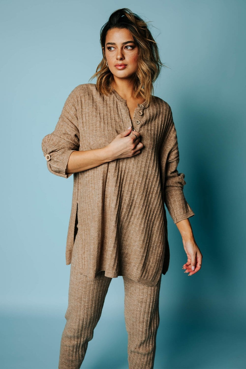 Free People Around the Clock Pullover in Army