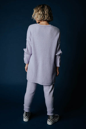 Clad and Cloth, Free People Around the Clock Pullover in Lavender, Free People, Top.