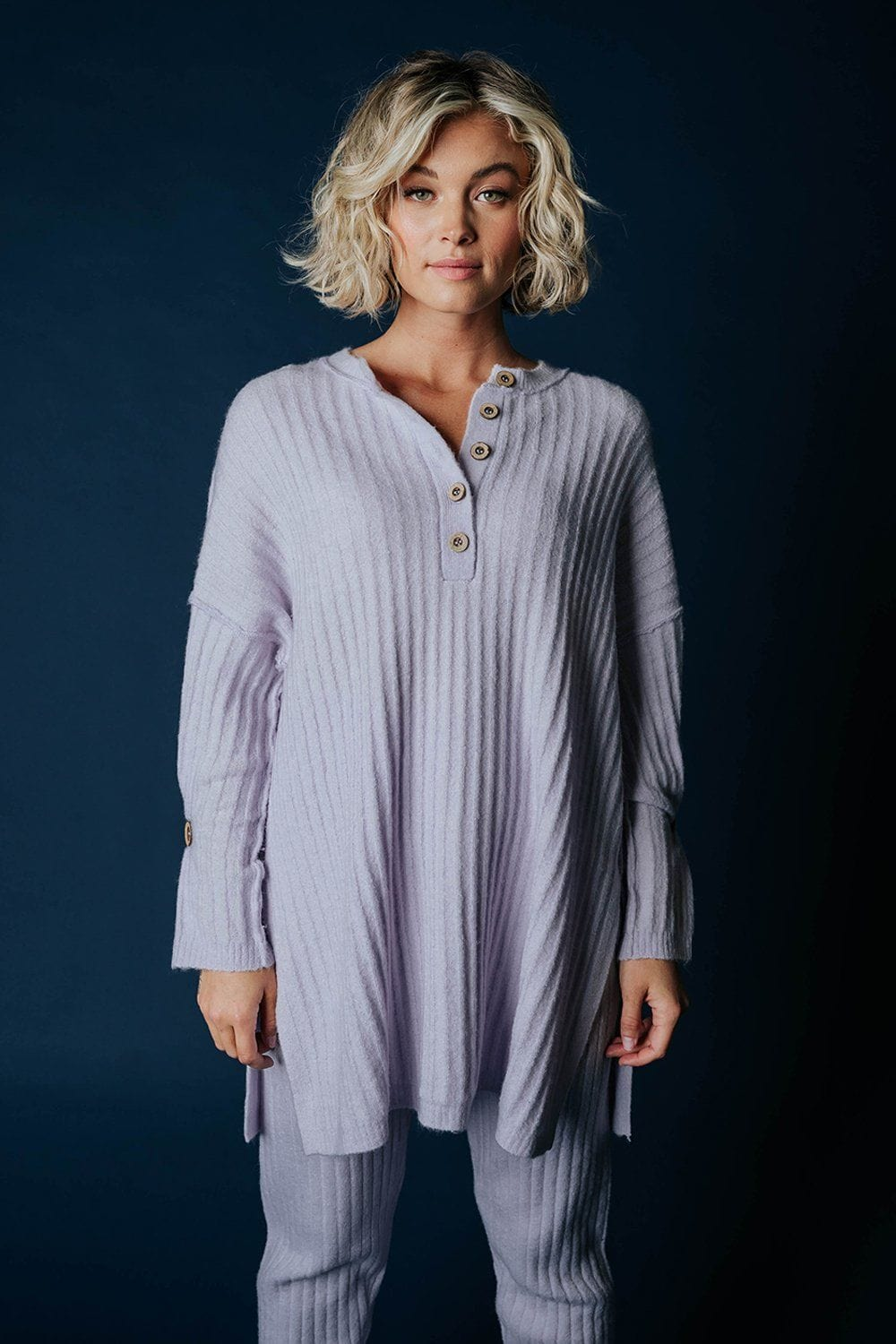 Free People Around the Clock Pullover in Lavendar Top Free People Clad and Cloth
