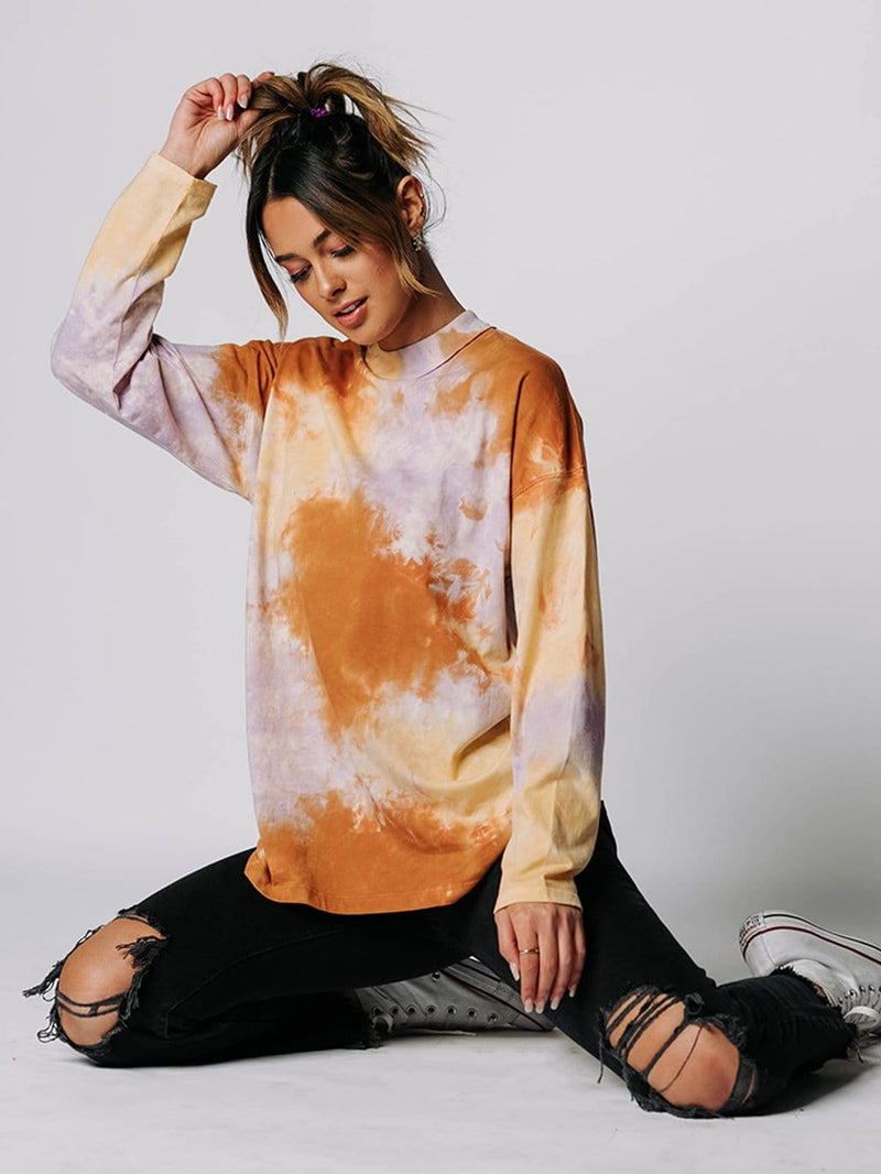 Free People Be Free Tie Dye Tee in Lilac Woods