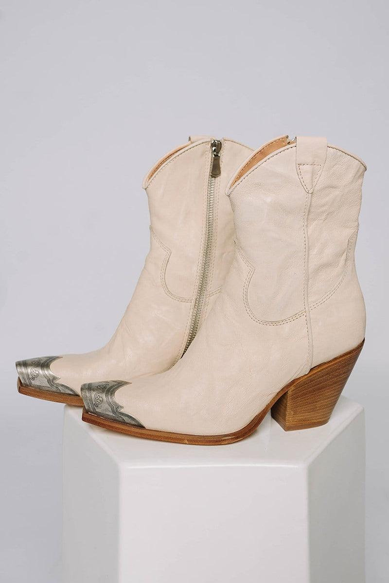 Free People Brayden Western Boot in Bone
