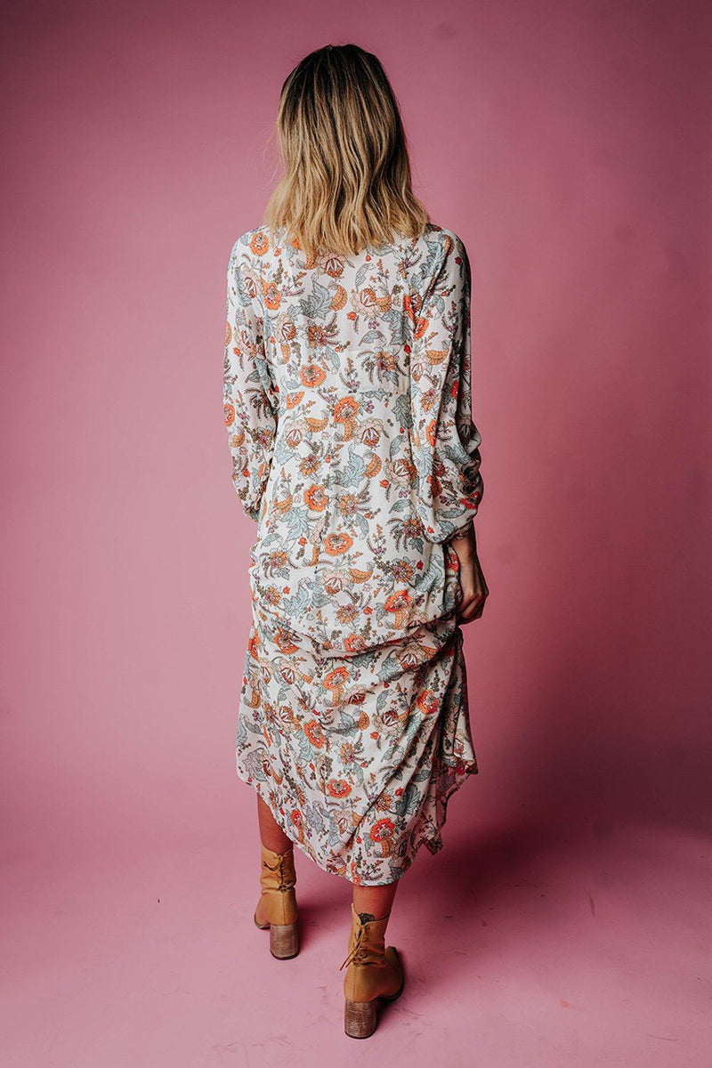 Clad and Cloth, Free People Earthfolk Maxi Dress in Tea Combo, Clad & Cloth, Dress.