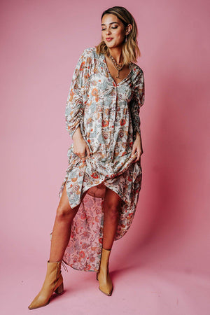 Free People Earthfolk Maxi Dress in Tea Combo, cladandcloth, n/a.