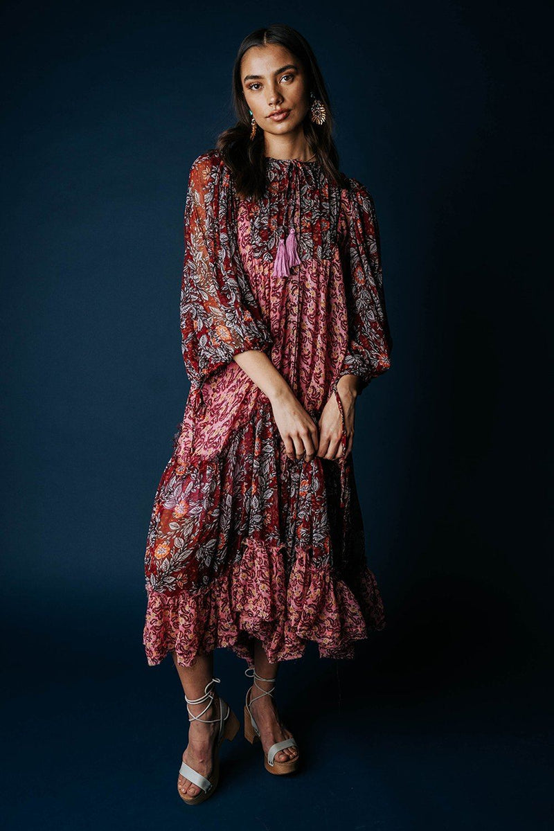 Free People Estelle Maxi Dress in Pop Combo, cladandcloth, n/a.