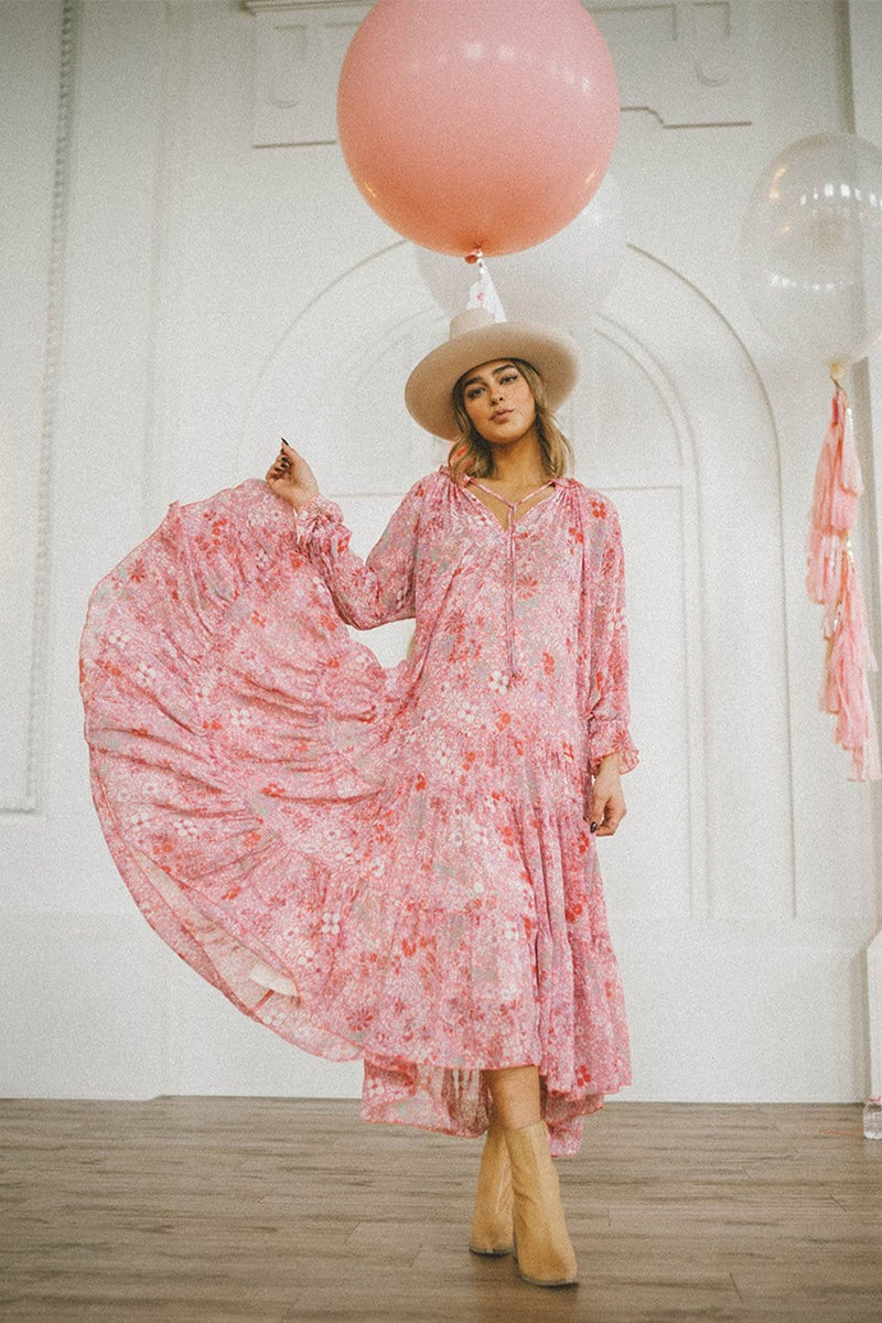 Free People Feeling Groovy Maxi in Summertime Pink