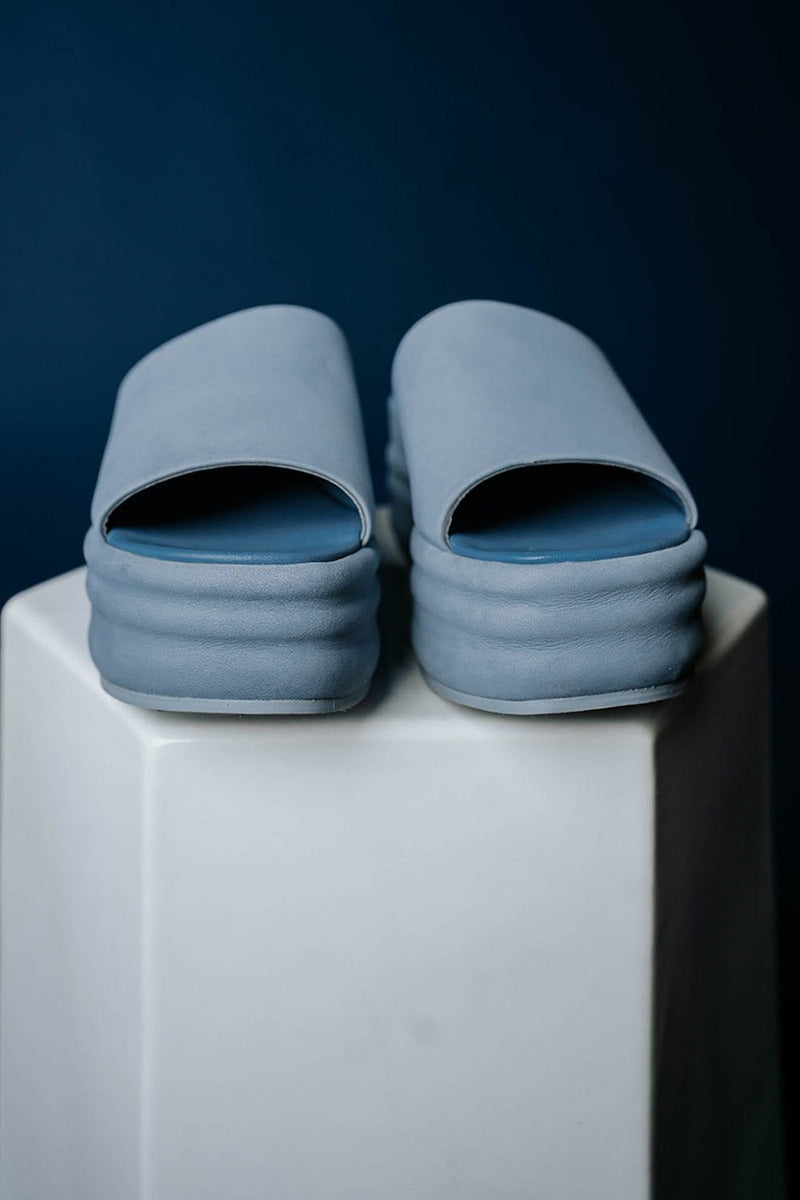 Clad and Cloth, Free People Harbor Flatform Sandal in Indigo, Free People, Shoes.