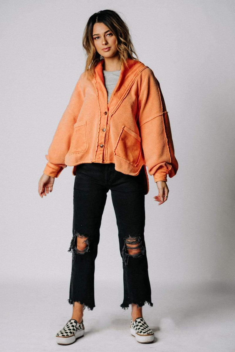 Free People Jordan Jacket in Baked Earth