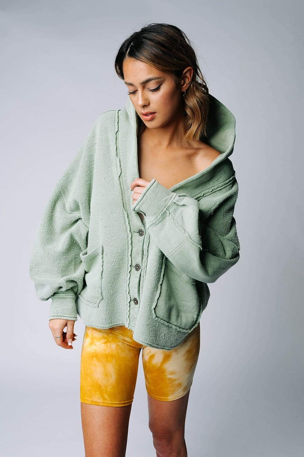 Free People Jordan Jacket in Bleached Military