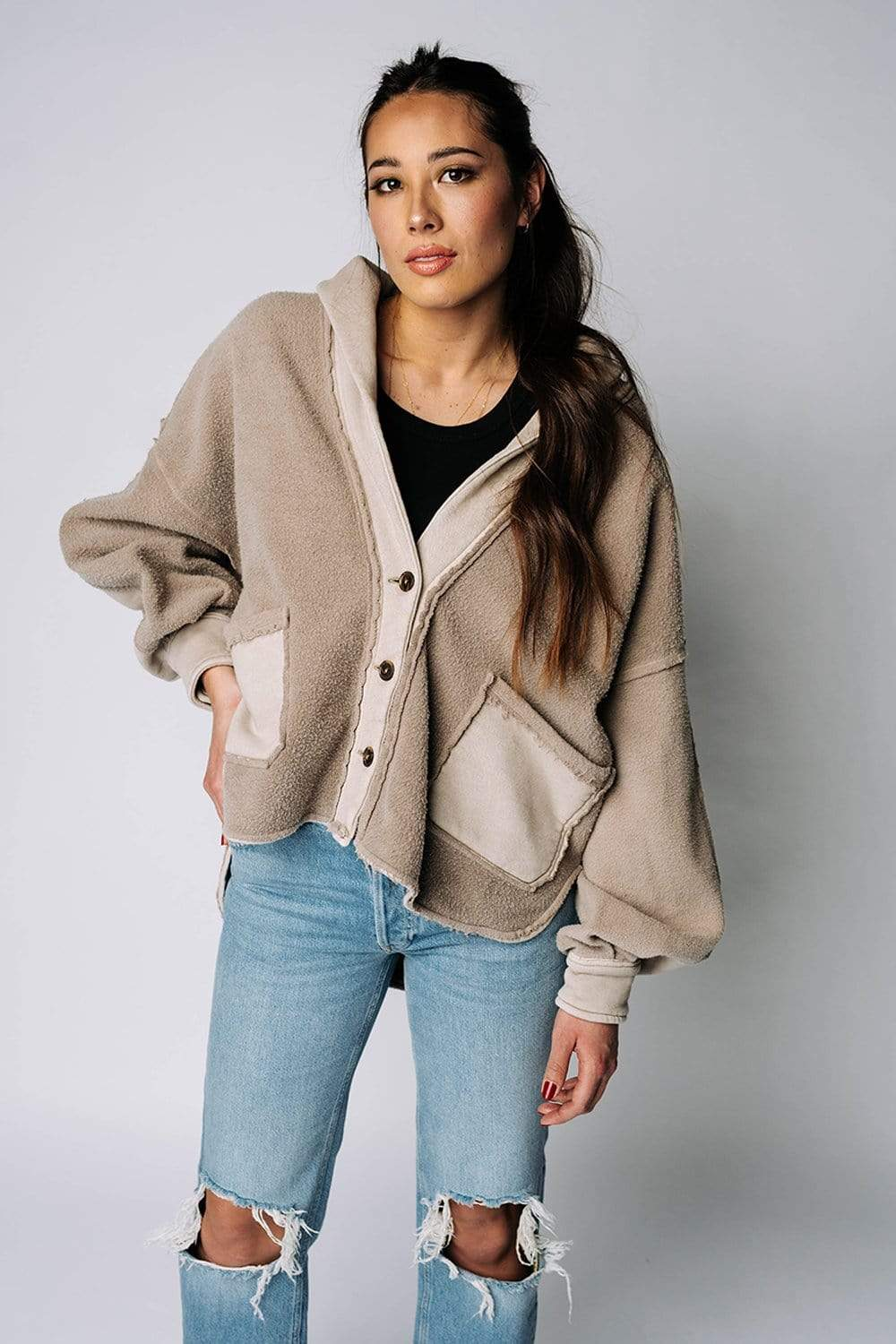 Free People Jordan Jacket in Magic Mushroom