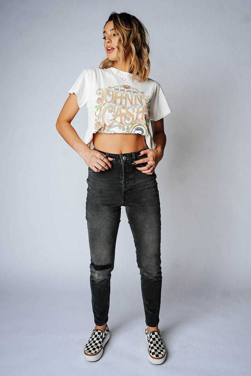 Clad and Cloth, Free People Zuri Mom Jeans in Dusty Roads, Free People, Bottom.