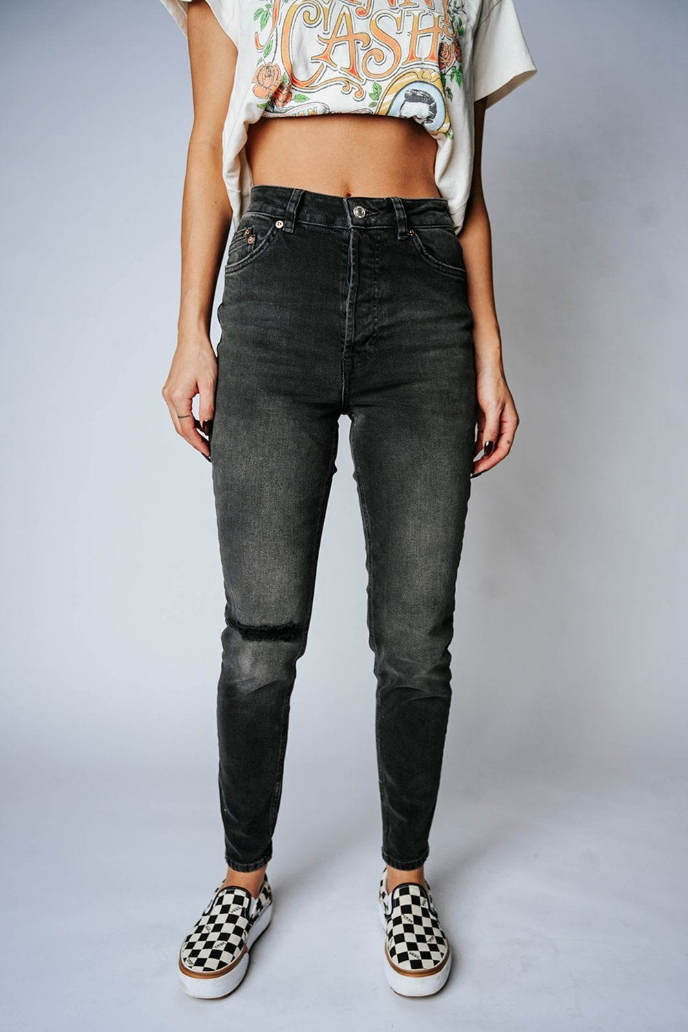 Free People Zuri Mom Jeans in Dusty Roads, cladandcloth, Free People.