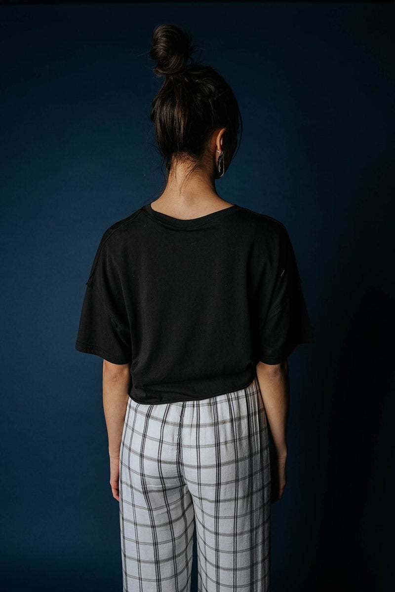 Get Out Basic Tee in Black Top Mono B Clad and Cloth