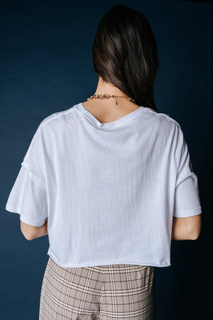 Get Out Basic Tee in White, cladandcloth, Mono B.