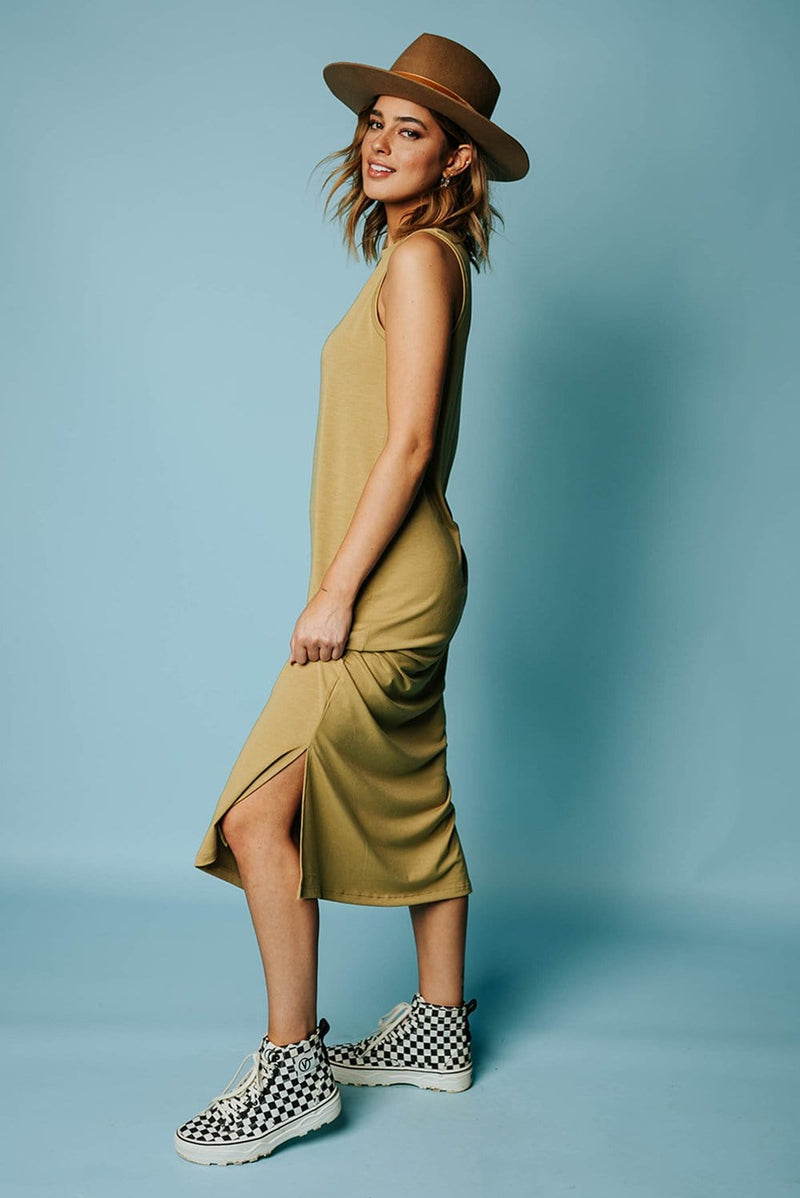 Golden Lime Midi Dress