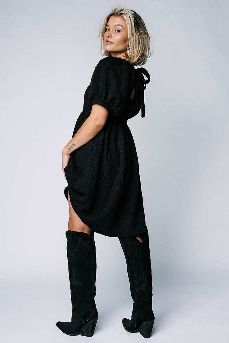 Happier With You Dress in Black, cladandcloth, Listicle.