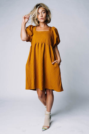 Happier With You Dress in Butterscotch Dress Listicle Clad and Cloth
