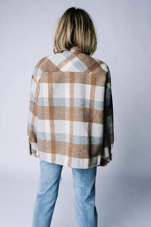 Happy for You Plaid Jacket Top n/a Clad and Cloth