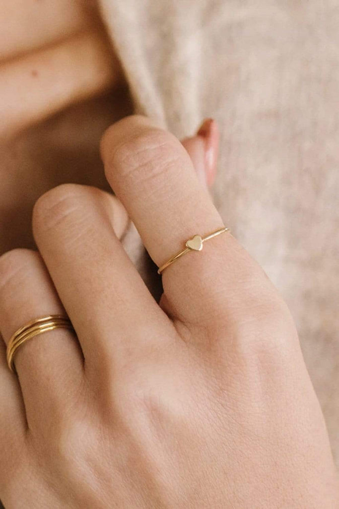 Made By Mary Heart Stacking Ring
