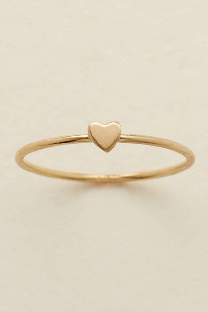 Clad and Cloth, Made By Mary Heart Stacking Ring, Made By Mary, Accessory.