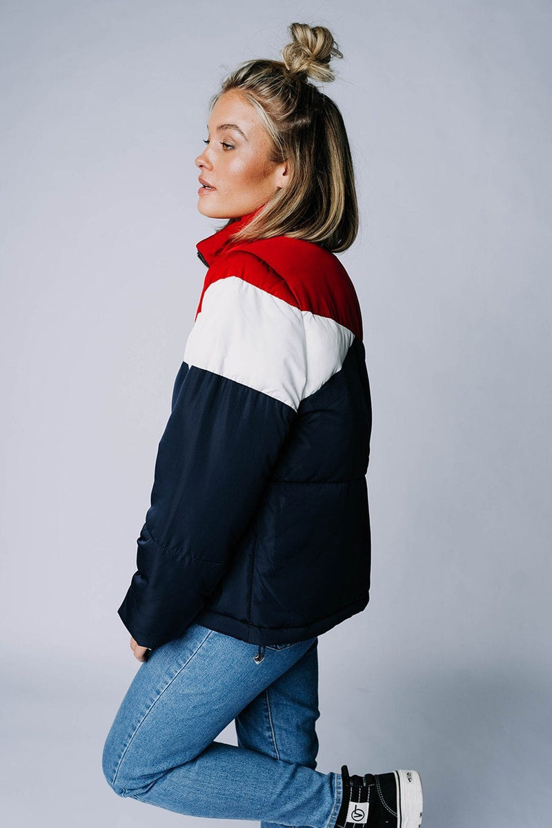 Iceland Puffer in Navy Combo Top n/a Clad and Cloth