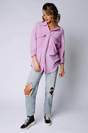 Clad and Cloth, In The Limelight Top in Lavender, Bucketlist, Top.