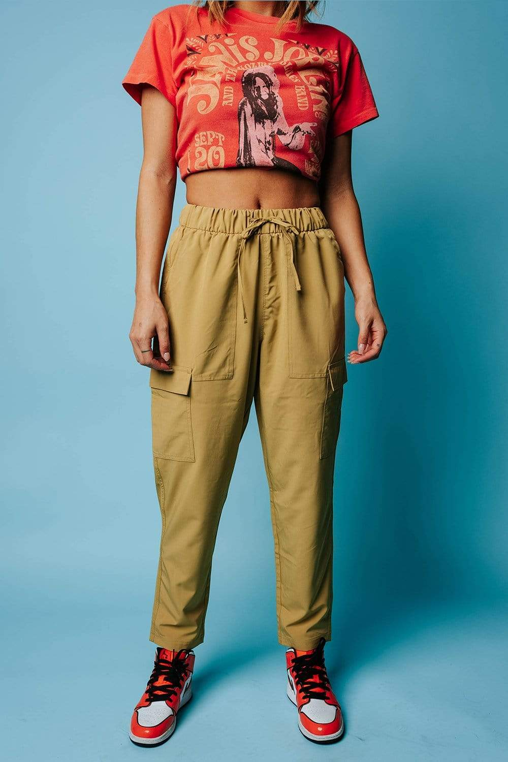 On The Go Pant in Golden Lime