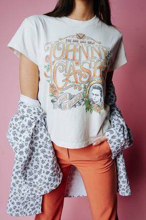 Clad and Cloth, Johnny Cash One and Only Tour Tee, Clad & Cloth, Tees.