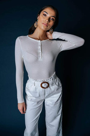 Clad and Cloth, Kamryn Top in Cream, Heart & Hips, Top.