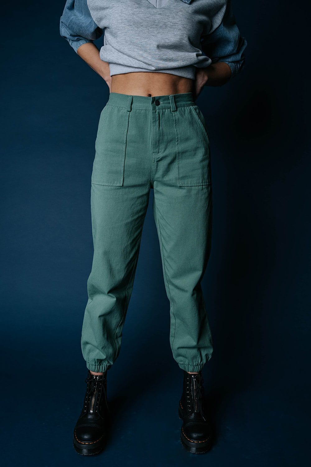 Kim Possible Jogger Pants, cladandcloth, Blue Blush.