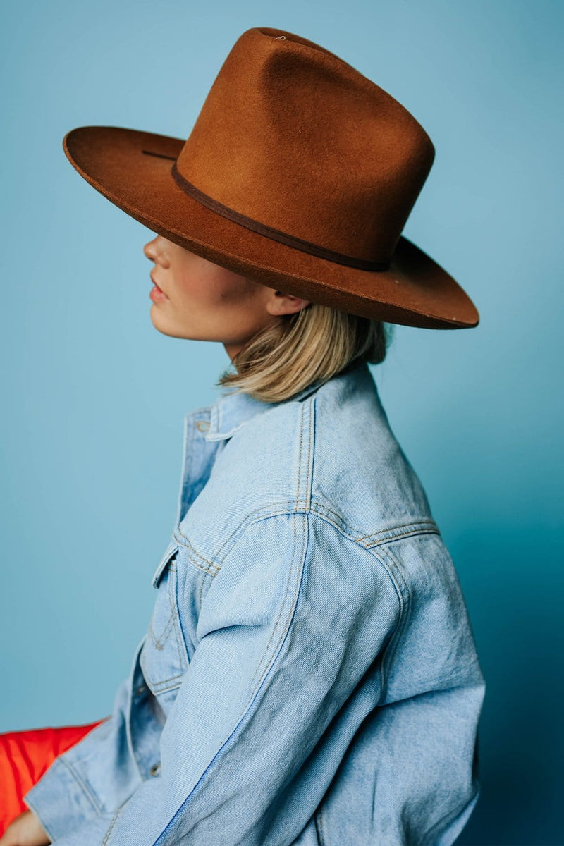 The Goldfinger Hat in Brown by Lack of Color