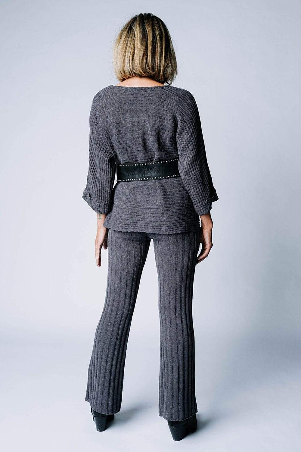 Lasting Lover Knit Set in Charcoal, cladandcloth, n/a.