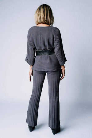 Clad and Cloth, Lasting Lover Knit Set in Charcoal, Clad & Cloth, Set.