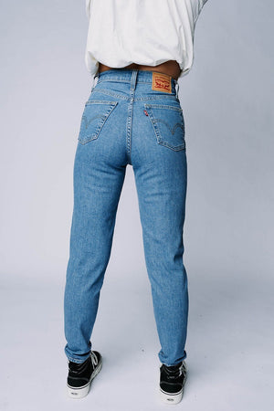 Clad and Cloth, Levi's High Waisted Taper Jean in FYI, Levi's, Bottom.