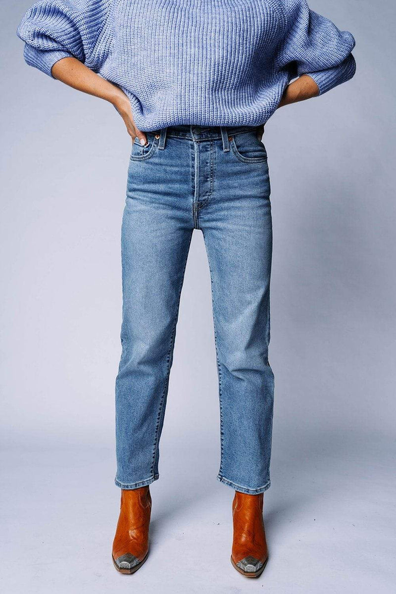 Levi's Ribcage Straight Ankle Worn Out Bottom Levi's Clad and Cloth
