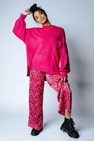 Magenta Mayhem Pants-Bottom-Sugarlips-XS-Clad & Cloth