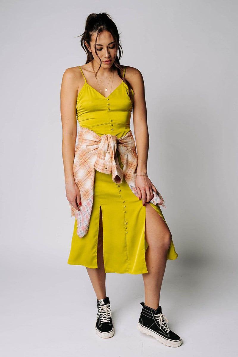 Mellow Yellow Midi Dress