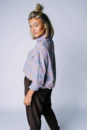 Over You Plaid Shirt Top Bailey Rose Clad and Cloth