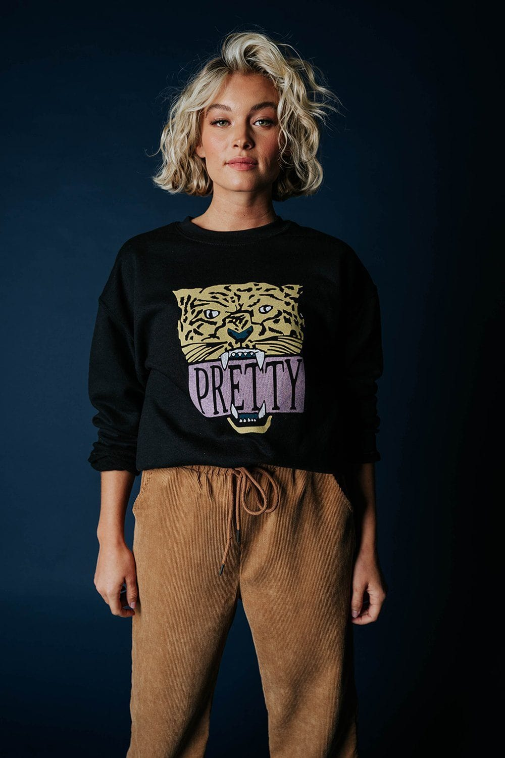 Pretty Feisty Pullover in Black Top WKNDER Clad and Cloth