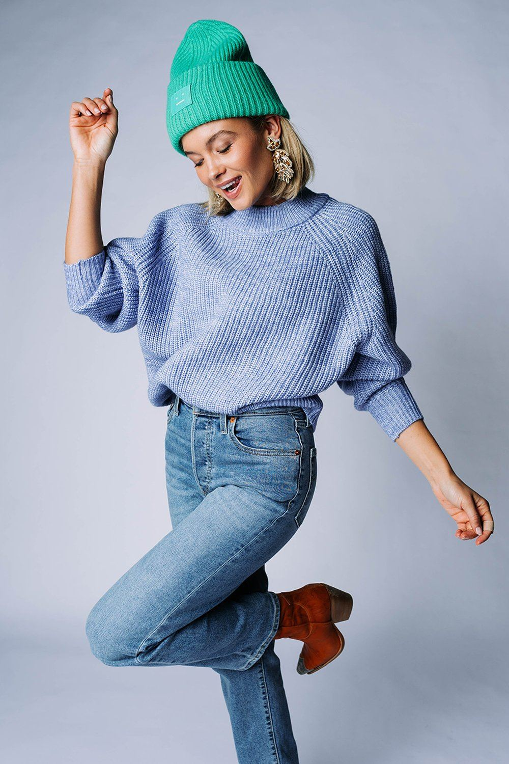 The Stanford Sweater in Indigo Top hyfve Clad and Cloth