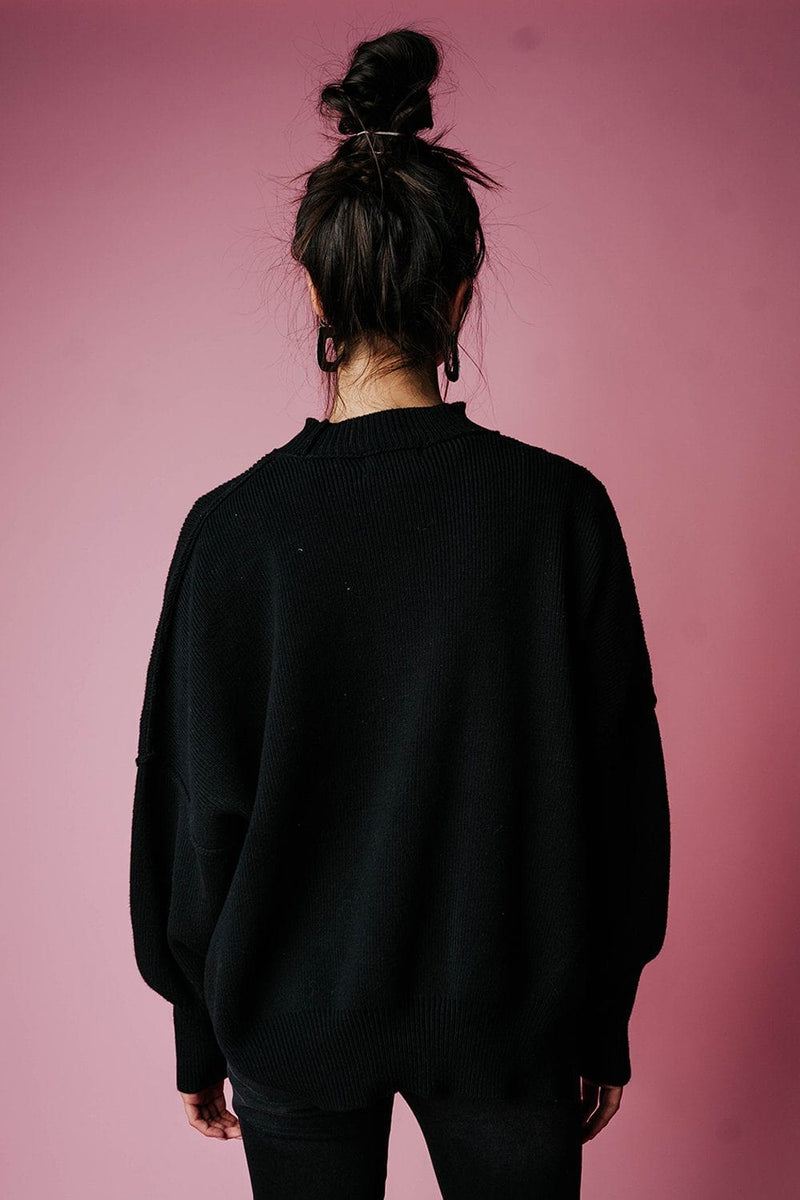 State of Emotion Pullover in Black, cladandcloth, Zenana.