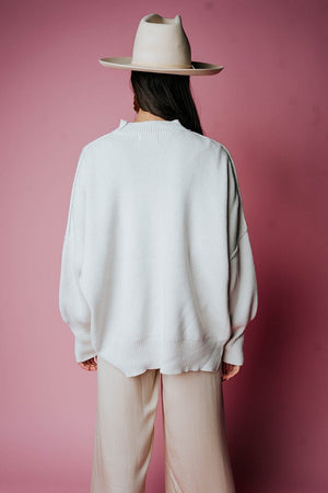 State of Emotion Pullover in Bone Top Zenana Clad and Cloth