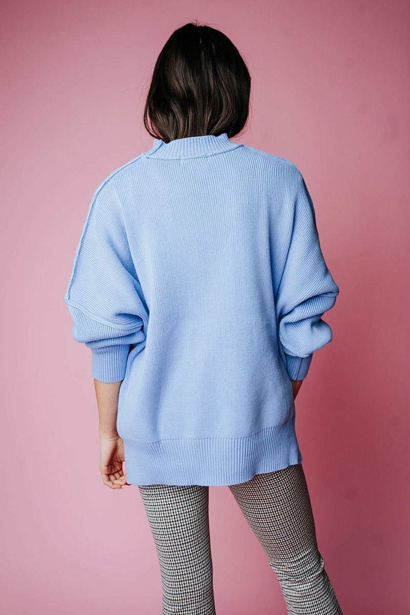 State of Emotion Pullover in Spring Blue, cladandcloth, Zenana.