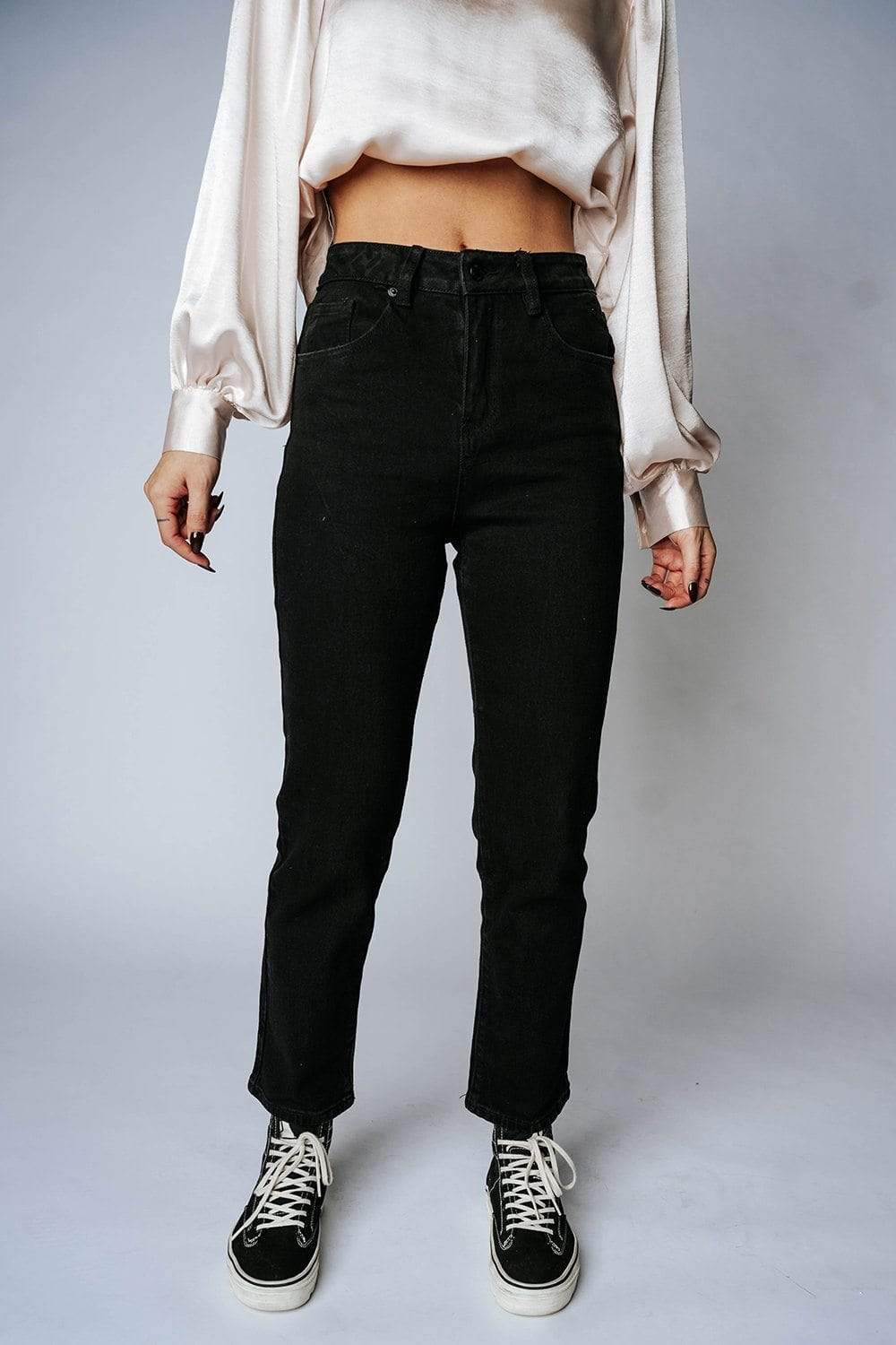 Stay Shameless Straight Leg Jeans Bottom n/a Clad and Cloth