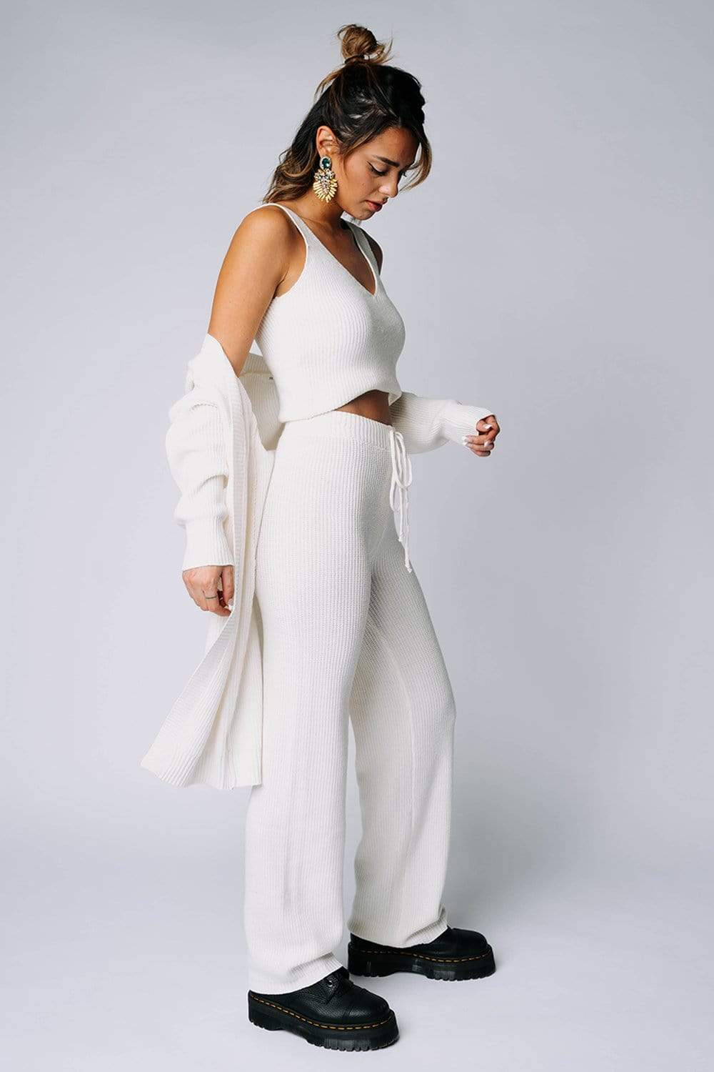 Clad and Cloth, Sunday Brunch Set in Ivory, RIVIR, Top.