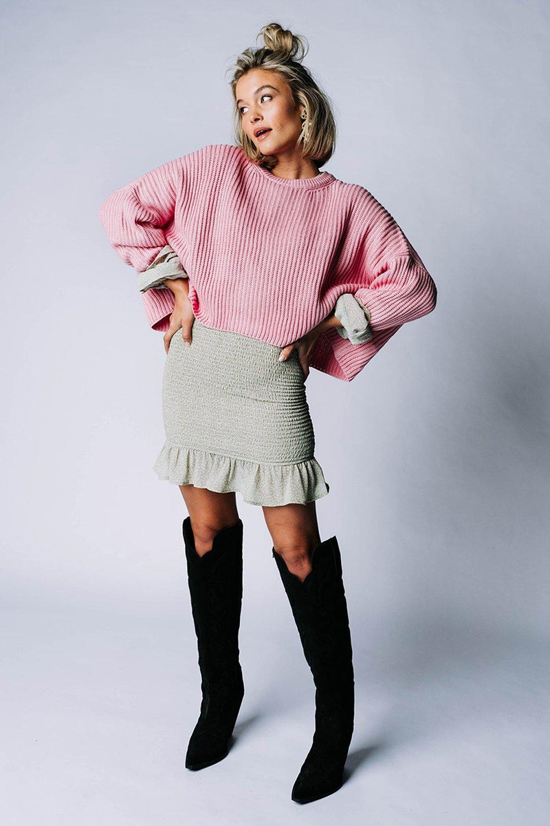 Sweet Dreams Pullover in Candy Pink Top Cotton Candy LA Clad and Cloth