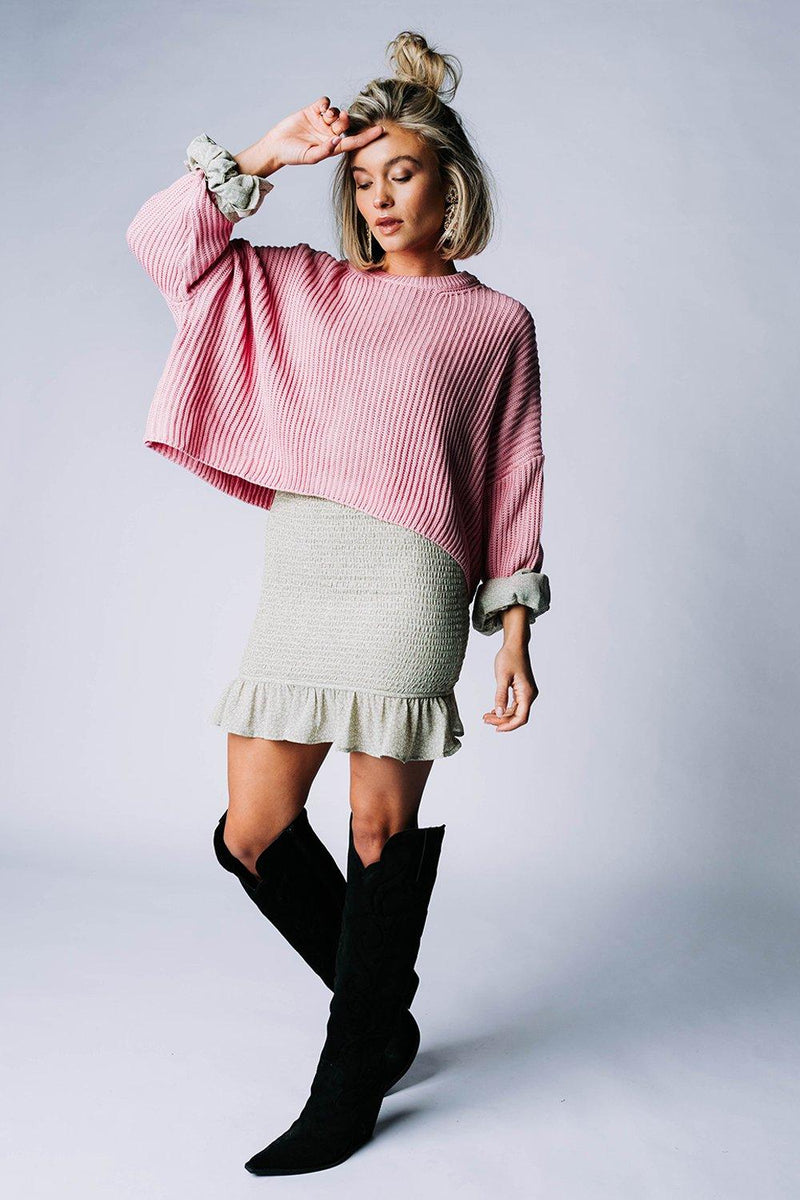 Clad and Cloth, Sweet Dreams Pullover in Candy Pink, Cotton Candy LA, Top.
