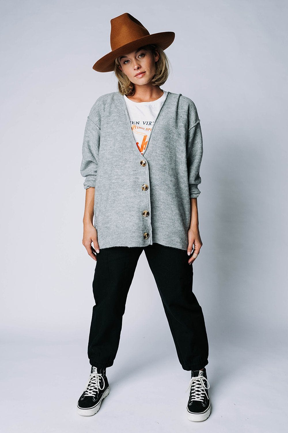 Sweet Surrender Cardigan in Grey Top Zenana Clad and Cloth