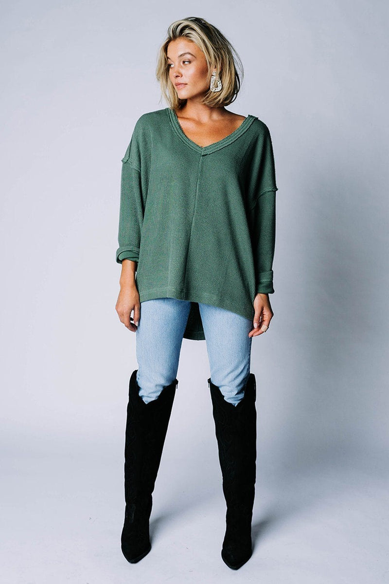 Tell The Birds Top in Olive Top mod ref Clad and Cloth