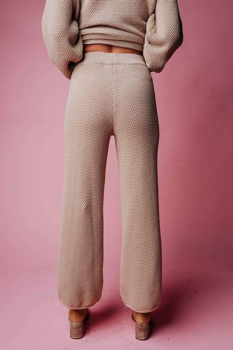 The Anna Sweater Set in Champagne, cladandcloth, Park Adelyn.