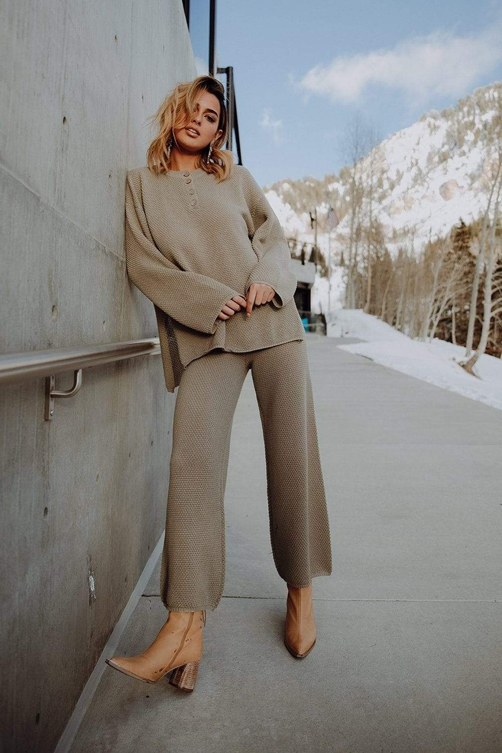 The Anna Sweater Set in Sage Top Park Adelyn Clad and Cloth